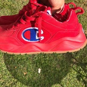 Red suede champions. In Great condition